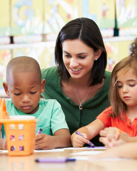 Step Up AT helps teachers and teacher assistants gain skills in implementing assistive technology for children with disabilities in the early literacy environment